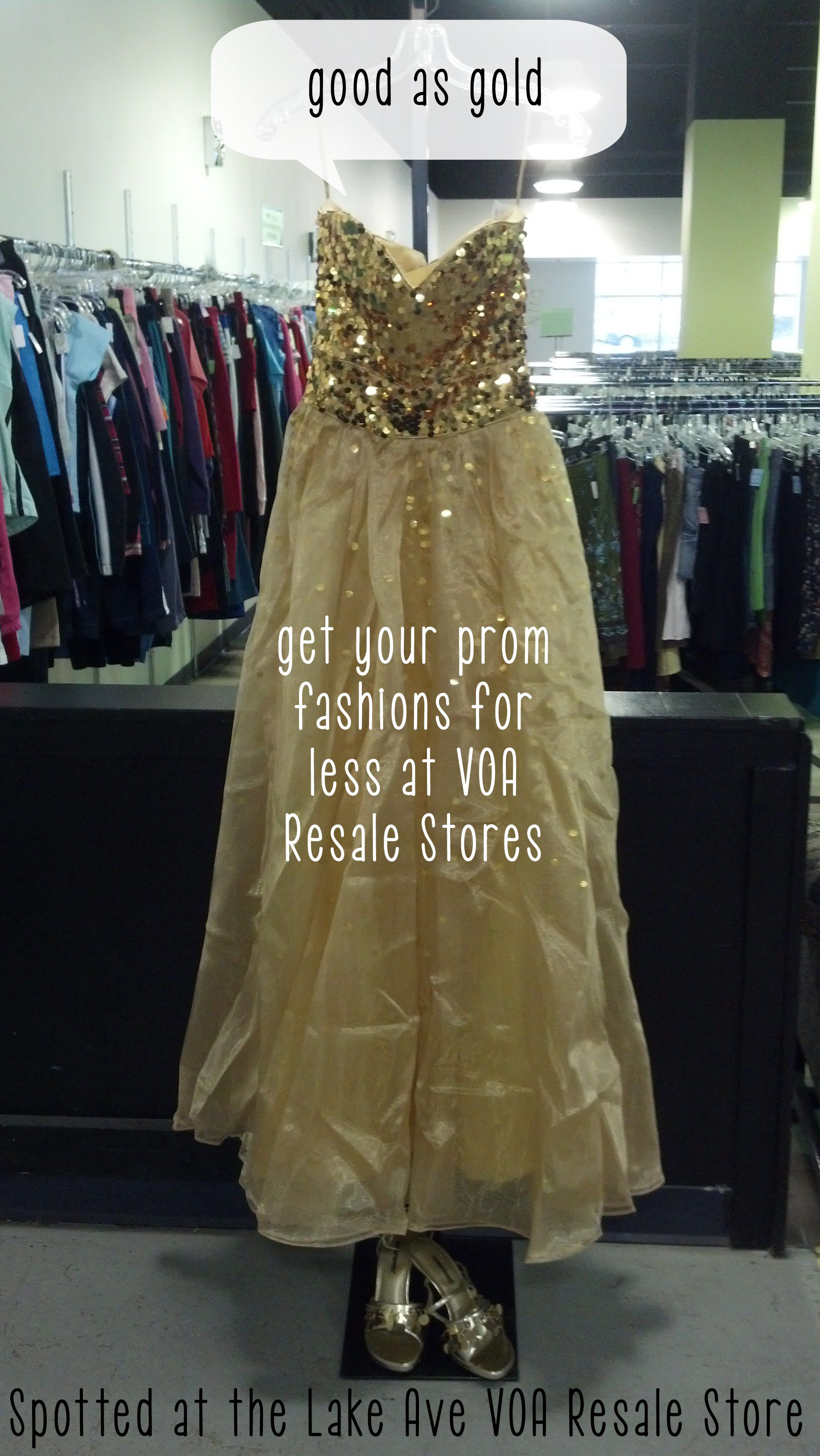 Spotted at Lake Ave VOA Resale Store. Find your prom fashion for ...