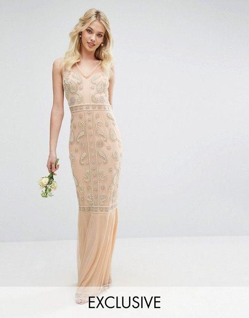Maya Embellished Maxi Dress with Fishtail | Asos de ...