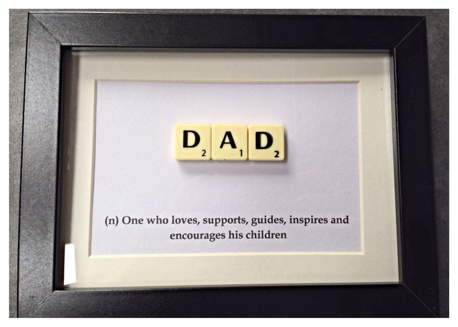 Definition Of A Dad  Fathers Day Gift  Letter Tile Style Wall