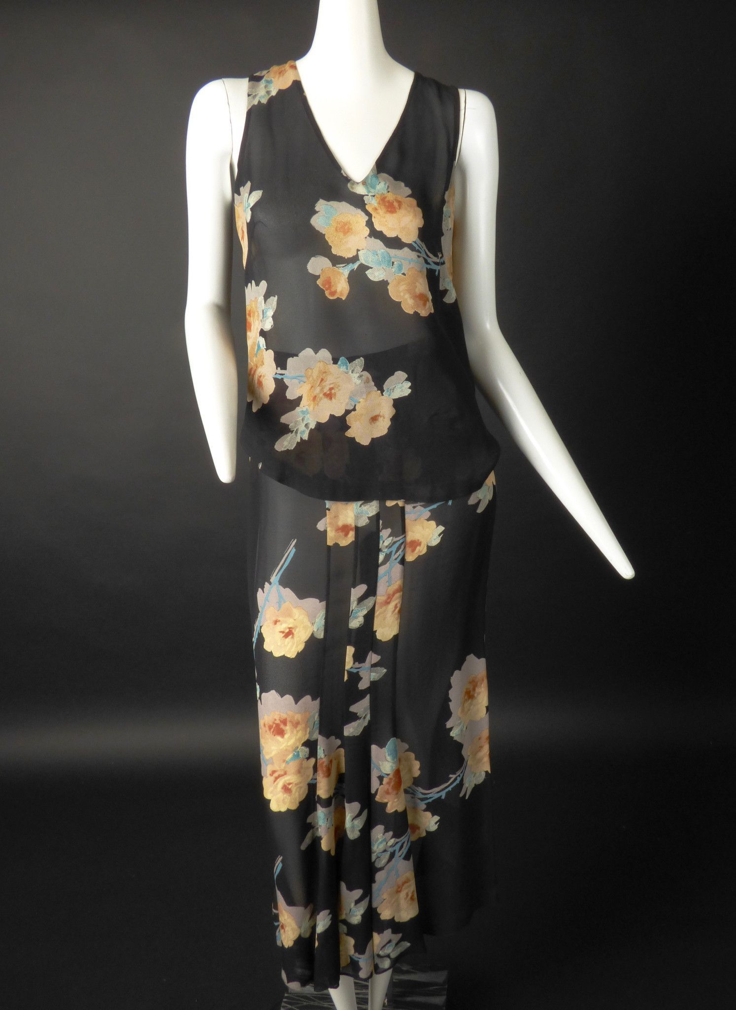 SONIA RYKIEL-2pc Floral Print Rayon Dress, Size-8