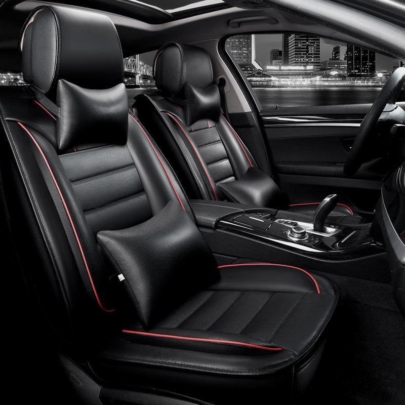New Pu Leather Seat Cover Universal For Hyundai Genesis G80 G90 Tucson Ix35 New Santafe Grande Leather Seat Covers Automotive Seat Covers Interior Accessories