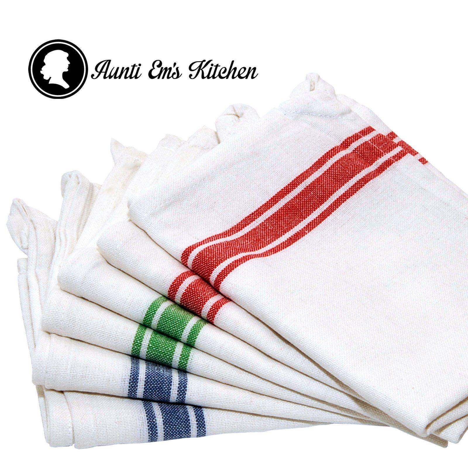 Kitchen Dish Towels With Vintage Design, Super Absorbent 100% Natural  Cotton Kitchen Towels (