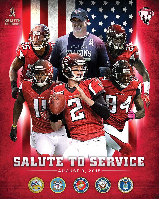 Atlanta Falcons Training Camp Military Day Poster On Behance Atlanta Falcons Atlanta Training Camp