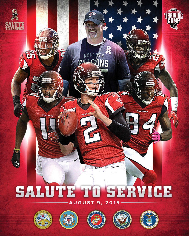 Atlanta Falcons Training Camp / Military Day Poster on