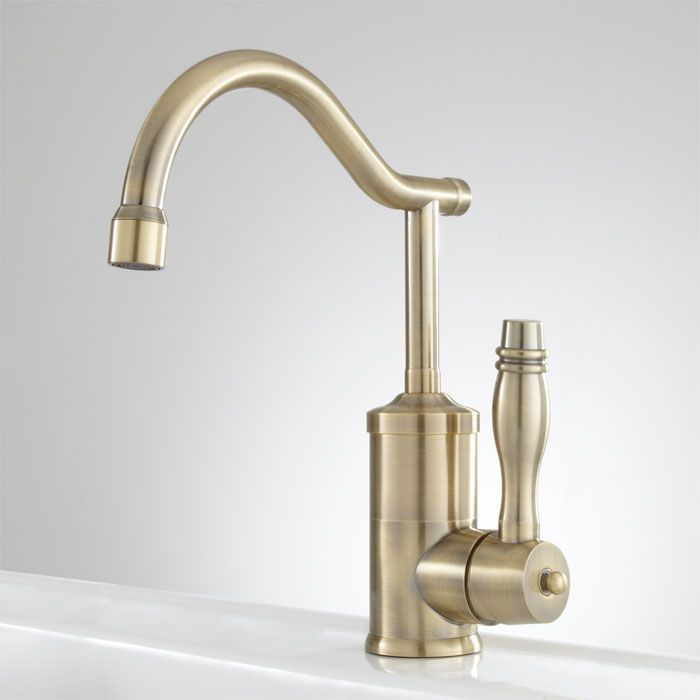 Signature Hardware- Midland Single Hole Kitchen Faucet with Swivel ...