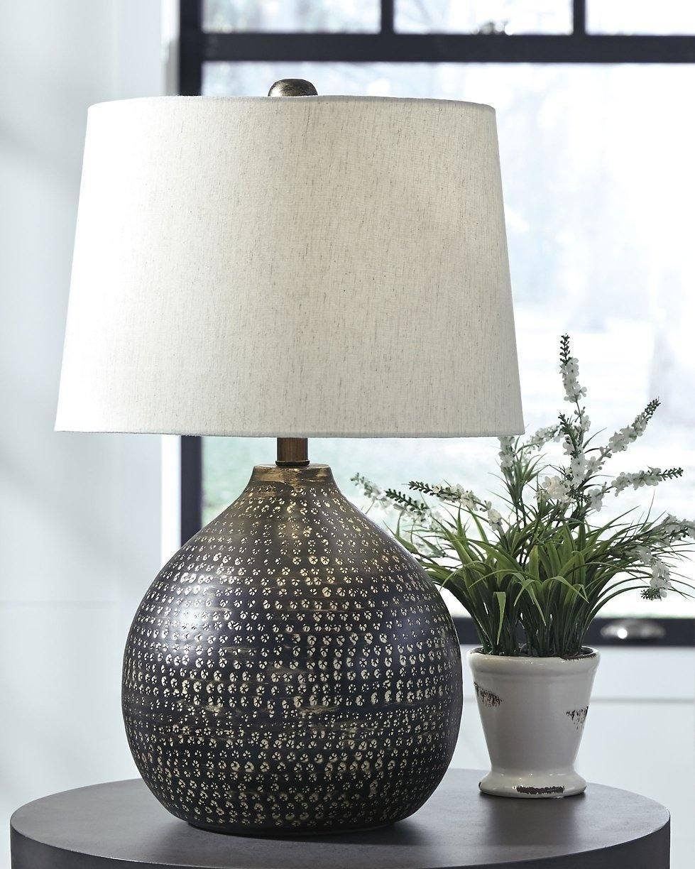 Photo of Black/Gold Finish Casual Maire Table Lamp L207294