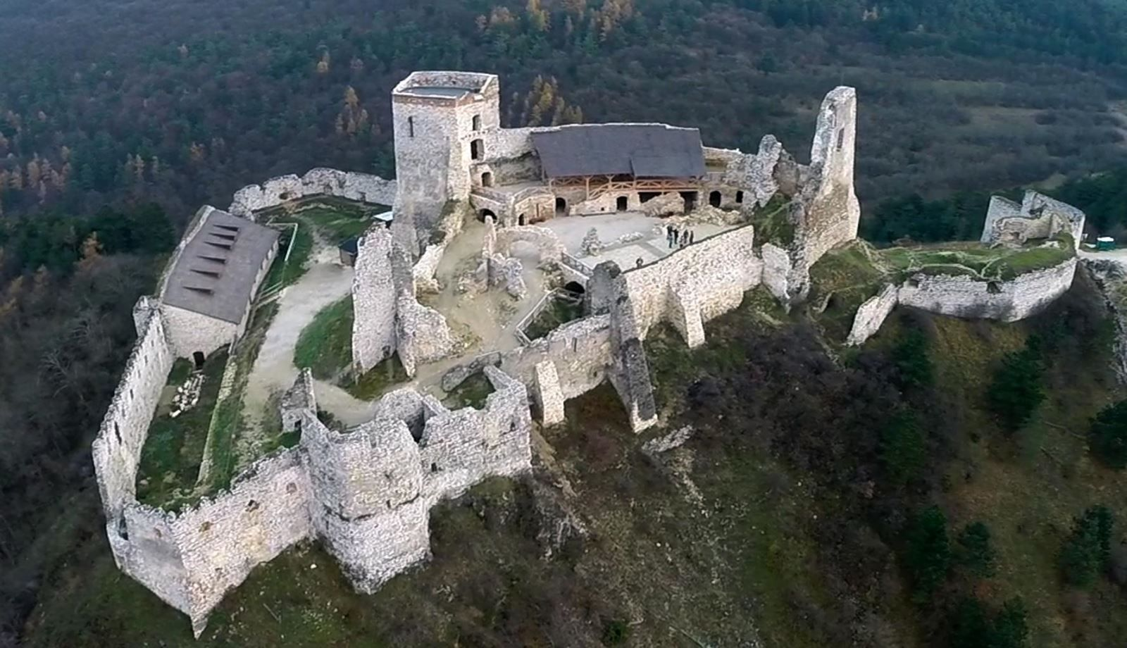 An Aerial View Of The Cachtice Castle European Castles Castle Real Castles