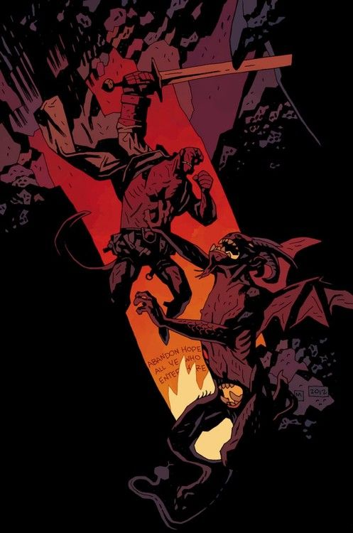 Hellboy in Hell #1 Year of Monsters variant by Mike Mignola