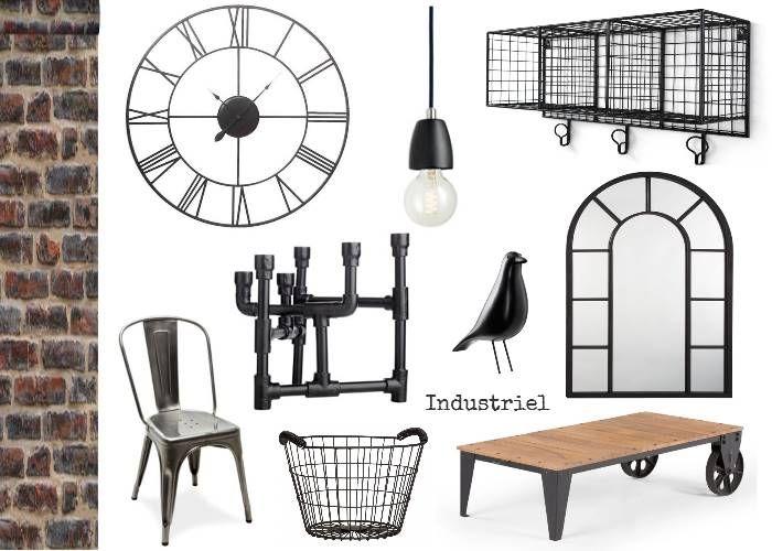 Planche D Ambiance Style Industriel Deco Indus Decoratrice D Interieur A Rouen Decoration Interieure Style Industriel Et Deco