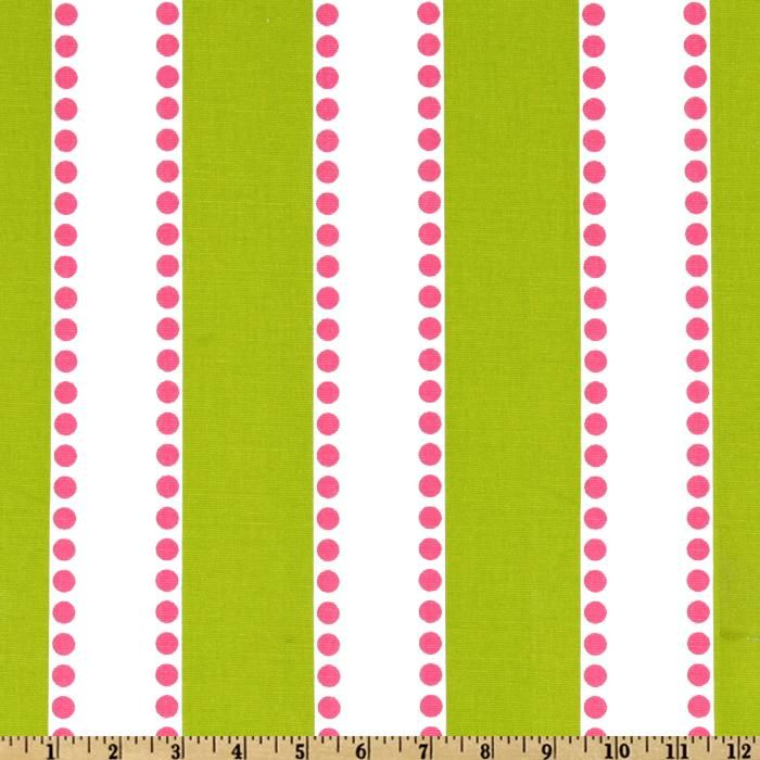 Premier Prints Lulu Stripe Chartreuse Candy Pink Designer Fabric