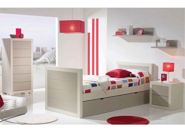 Dormitorio juvenil de estilo colonial con nido - Dormitorio estilo colonial ...