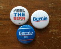 "Bernie Sanders Chub Pack - Set of 3 Bernie Sanders 1"" Pin Back Buttons"