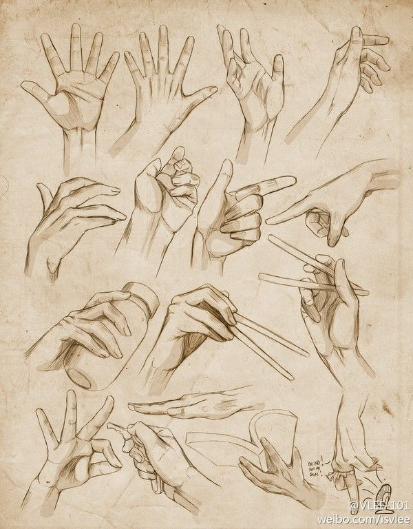 Inspiration: Hands ----Manga Art Drawing Hands---