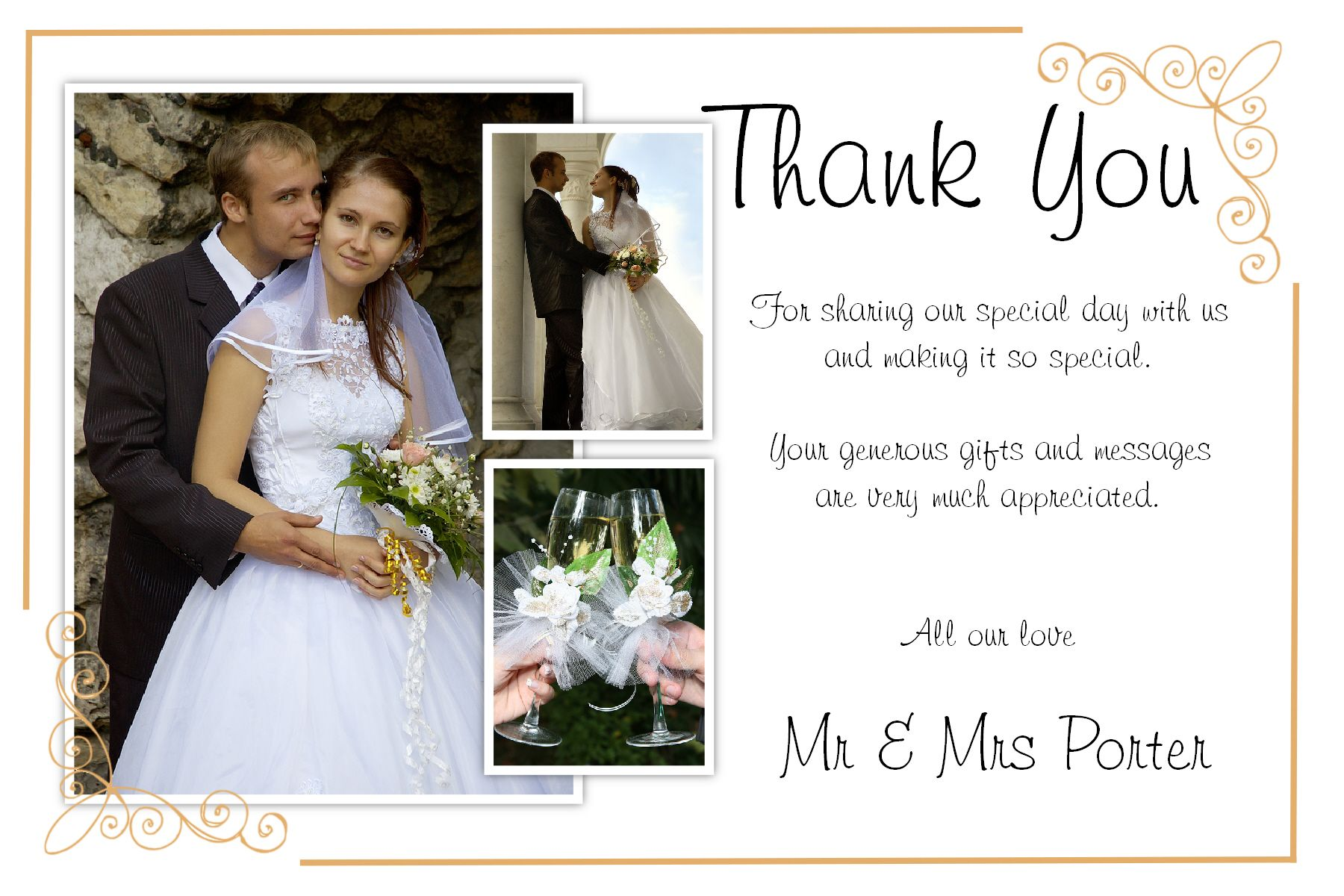 Wedding Thank You Card Template Free Download 21 Wedding Thank