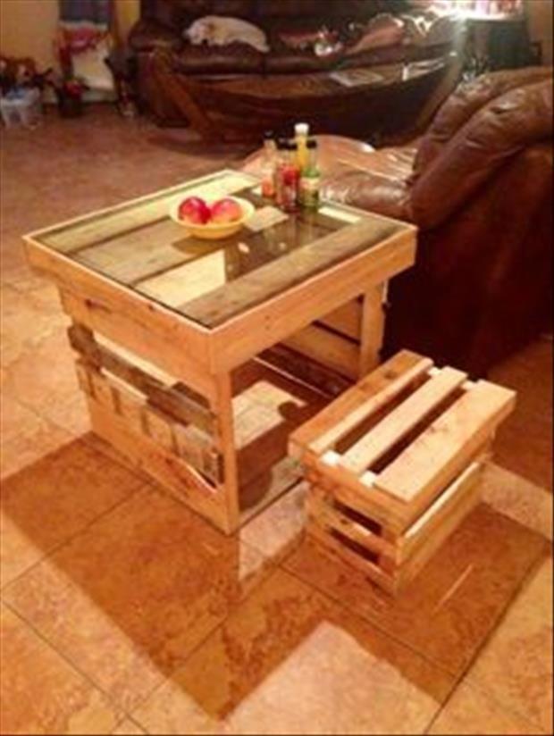 Mesa y silla para ni os hechas con palets muebles - Sillas hechas con palets ...