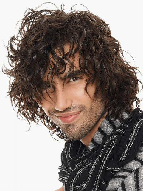 Herren Frisur Locken Lang Stylen Men Lockiges Haar Manner