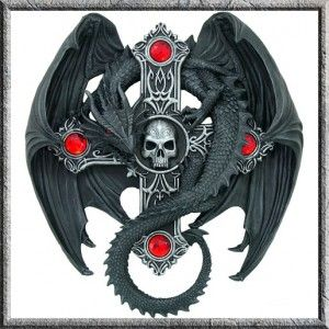 Gothic Guardian Dragon Skull Wall Mount Plaque Anne Stokes Gothic