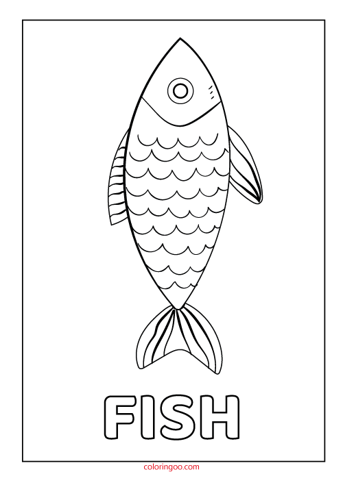 Printable Fish Coloring Page Pdf For Kids Fish Coloring Page Fish Printables Coloring Pages