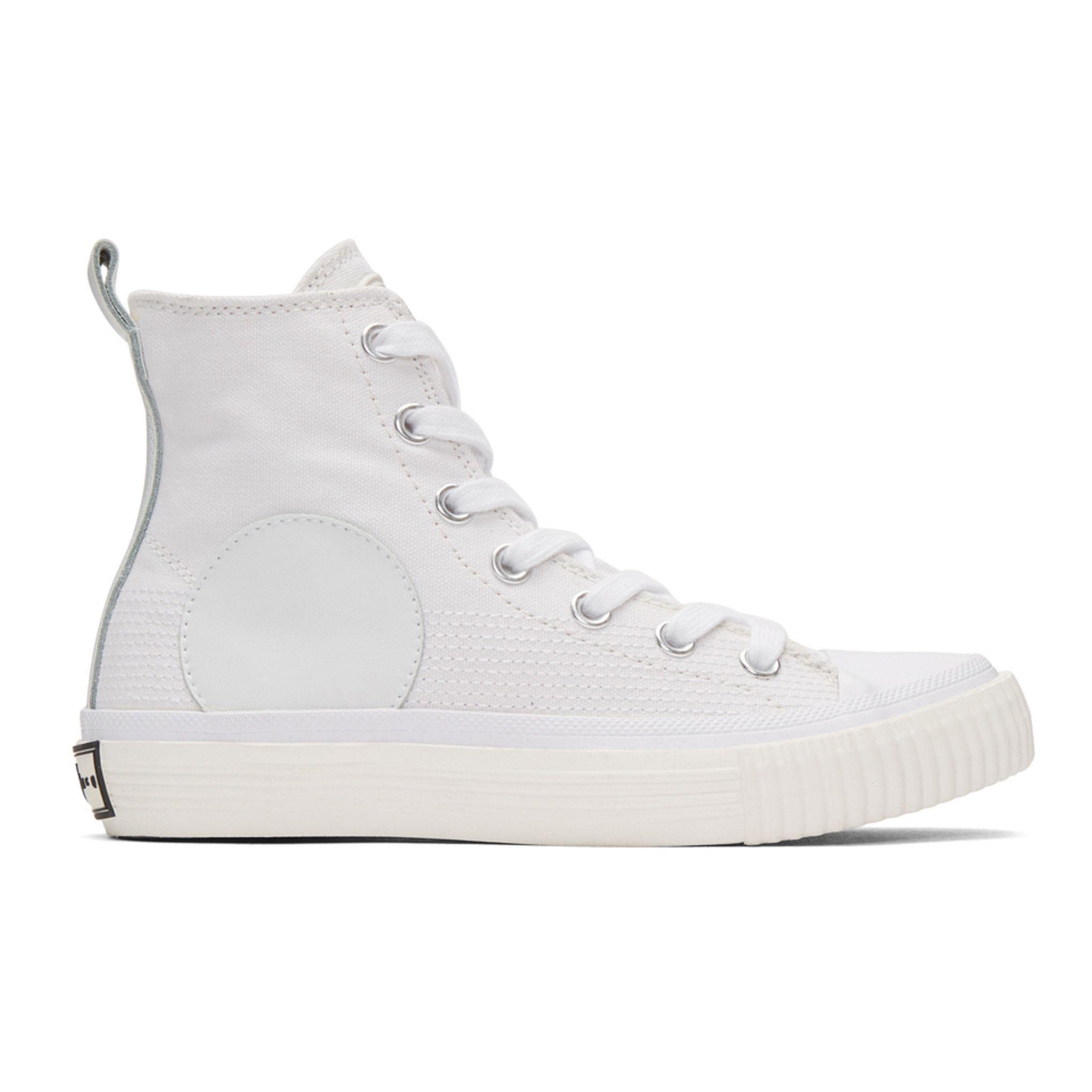 McQ Alexander McQueen - White Plimsoll High-Top Sneakers ...