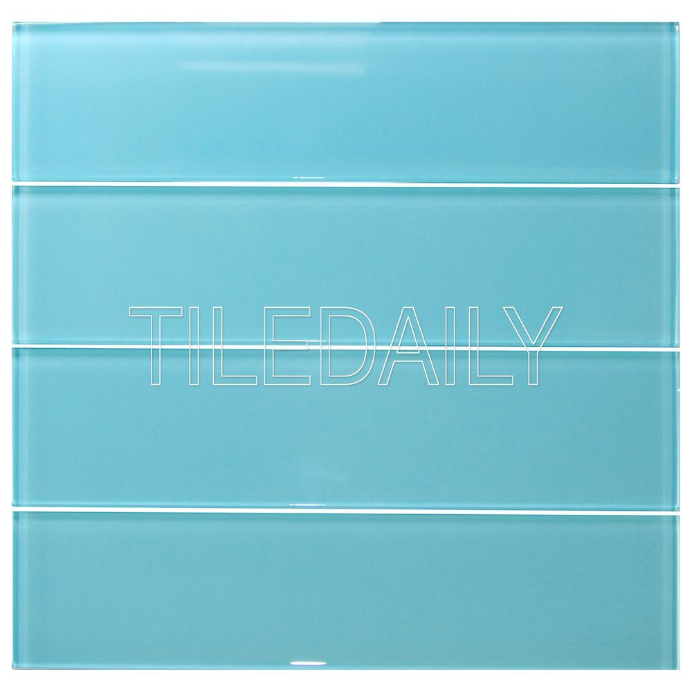 3x12 Turquoise Blue Subway Glass Tile 1595sqft Turquoisetile