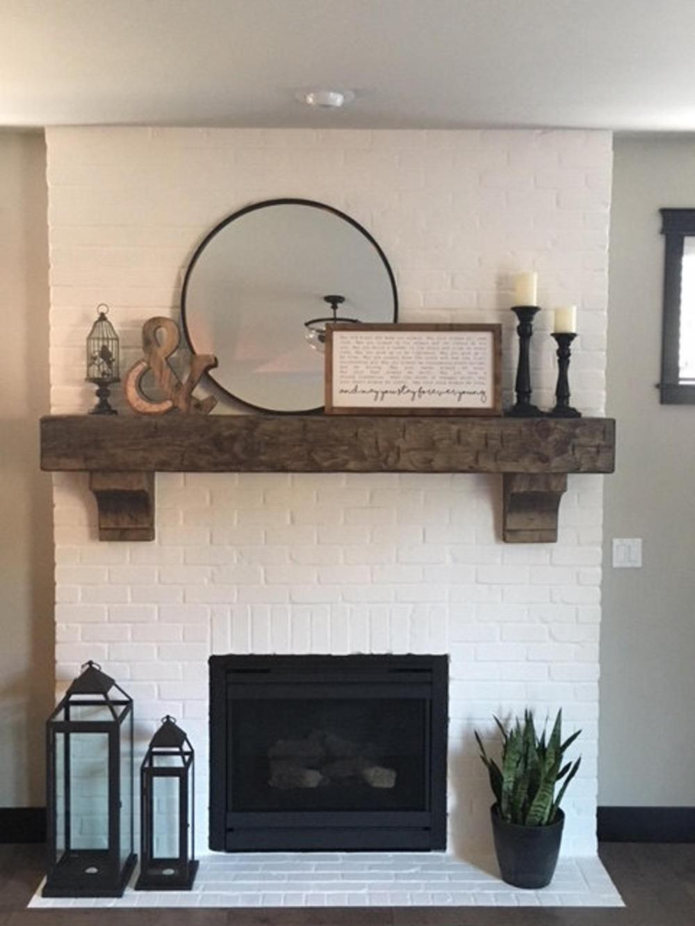 Fireplace Mantel 62 Custom Chunky Long Rustic 8 by 8 | Etsy