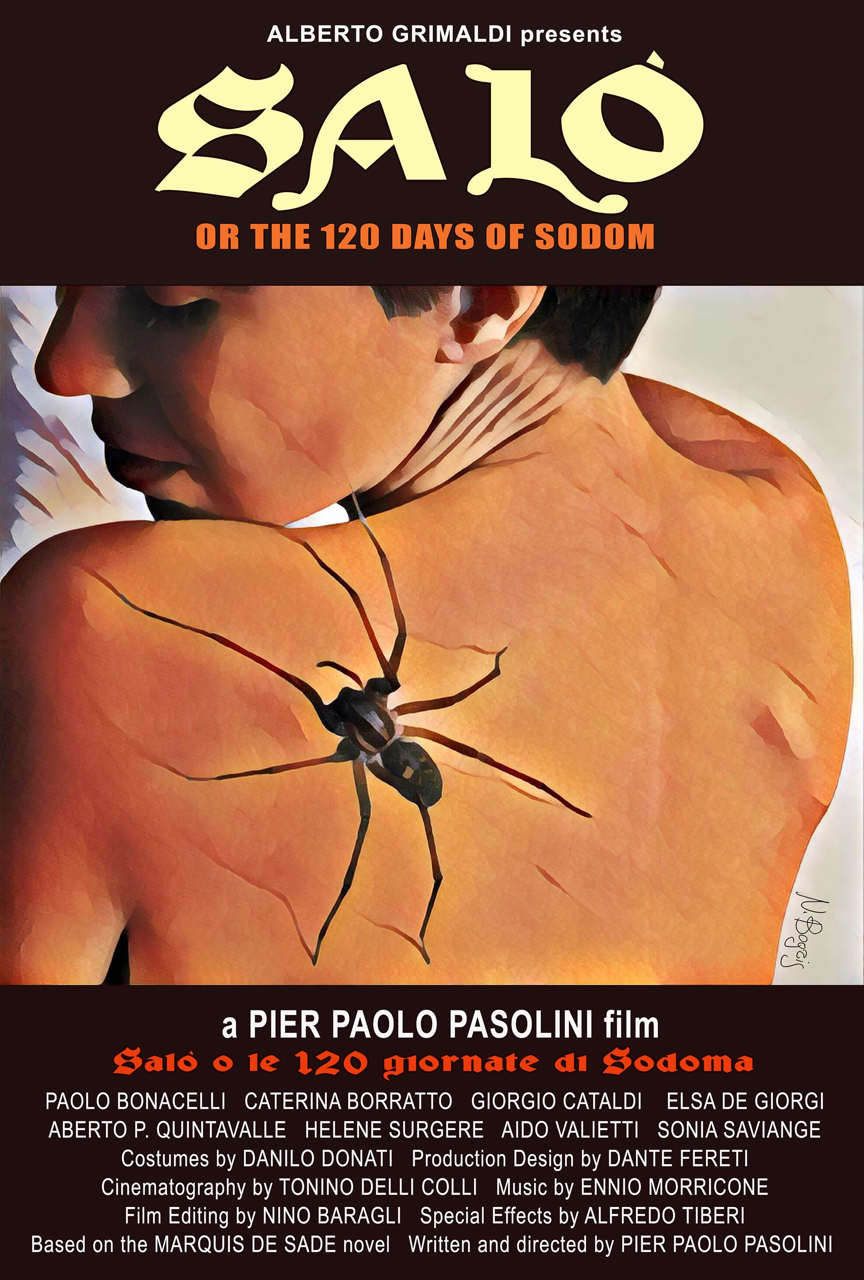 Salo, or the 120 Days of Sodom | Cinema posters, Best movie posters, Movie posters