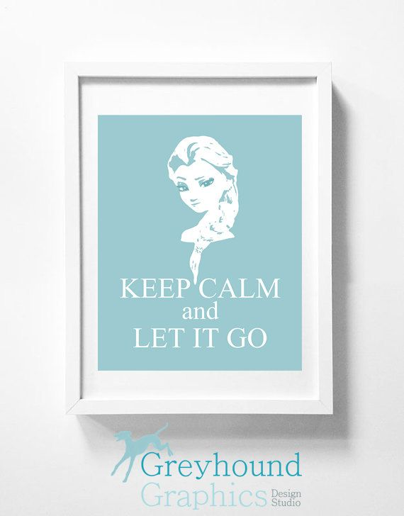 Disney's Frozen DIY printable wall art   Elsa by GreyhoundGraphics, $4.99