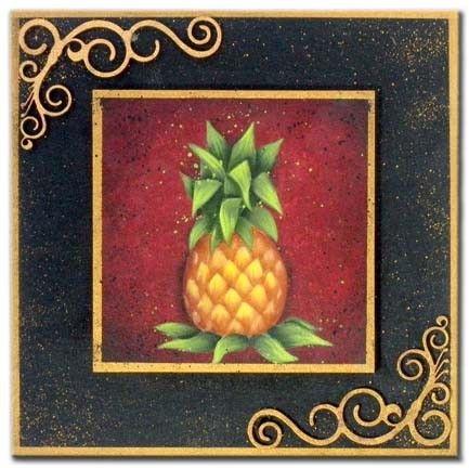 All Season Plaque Pineapple Packet Patricia Rawlinson