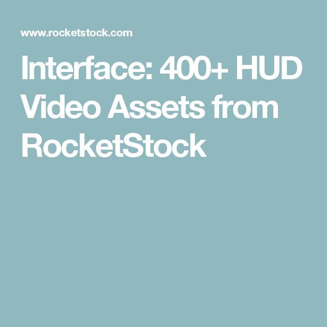 Interface: 400+ HUD Video Assets from | Stock Elements | Videos