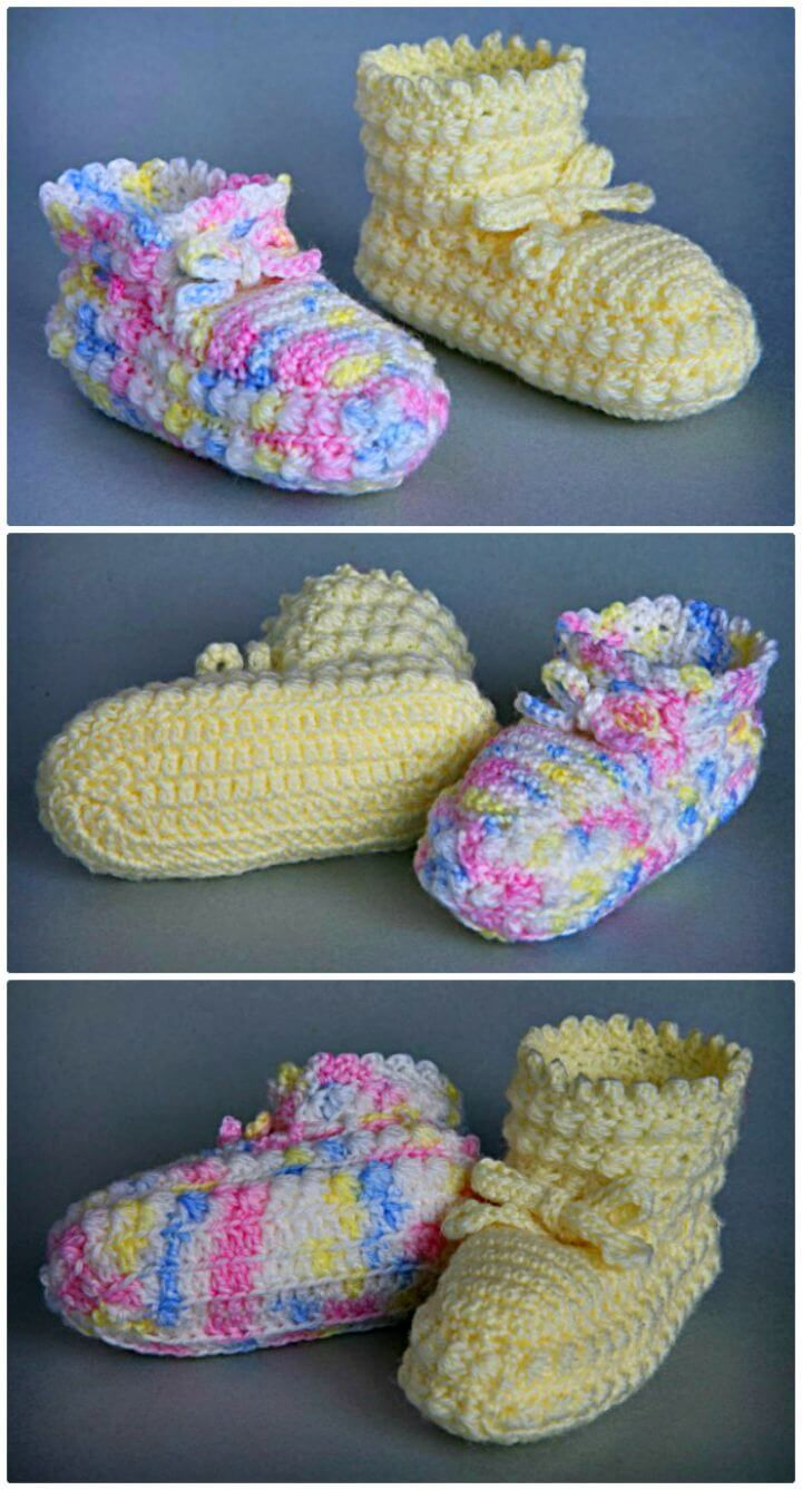 Crochet Baby Booties - 55 Free Crochet Patterns for Babies ...