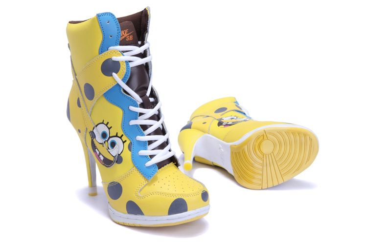 ... jordans 5 Affordable-Womens-Nike-Dunk-High-Heels-Spongebob-Squarepants-  ... 785c077435