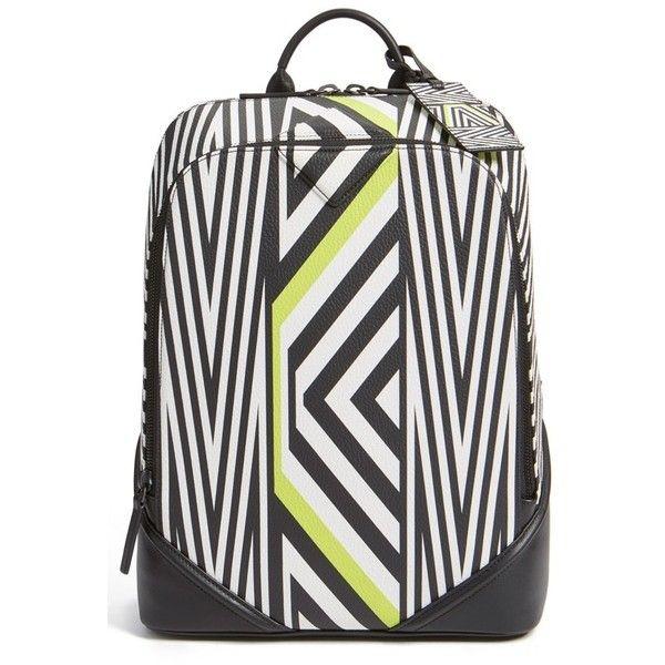 MCMxTobias Rehberger 'Medium' Geometric Coated Canvas Backpack (11 795 SEK) ❤ liked on Polyvore featuring bags, backpacks, lime green, laptop rucksack, mcm, lime green backpack, backpacks bags and mcm bags
