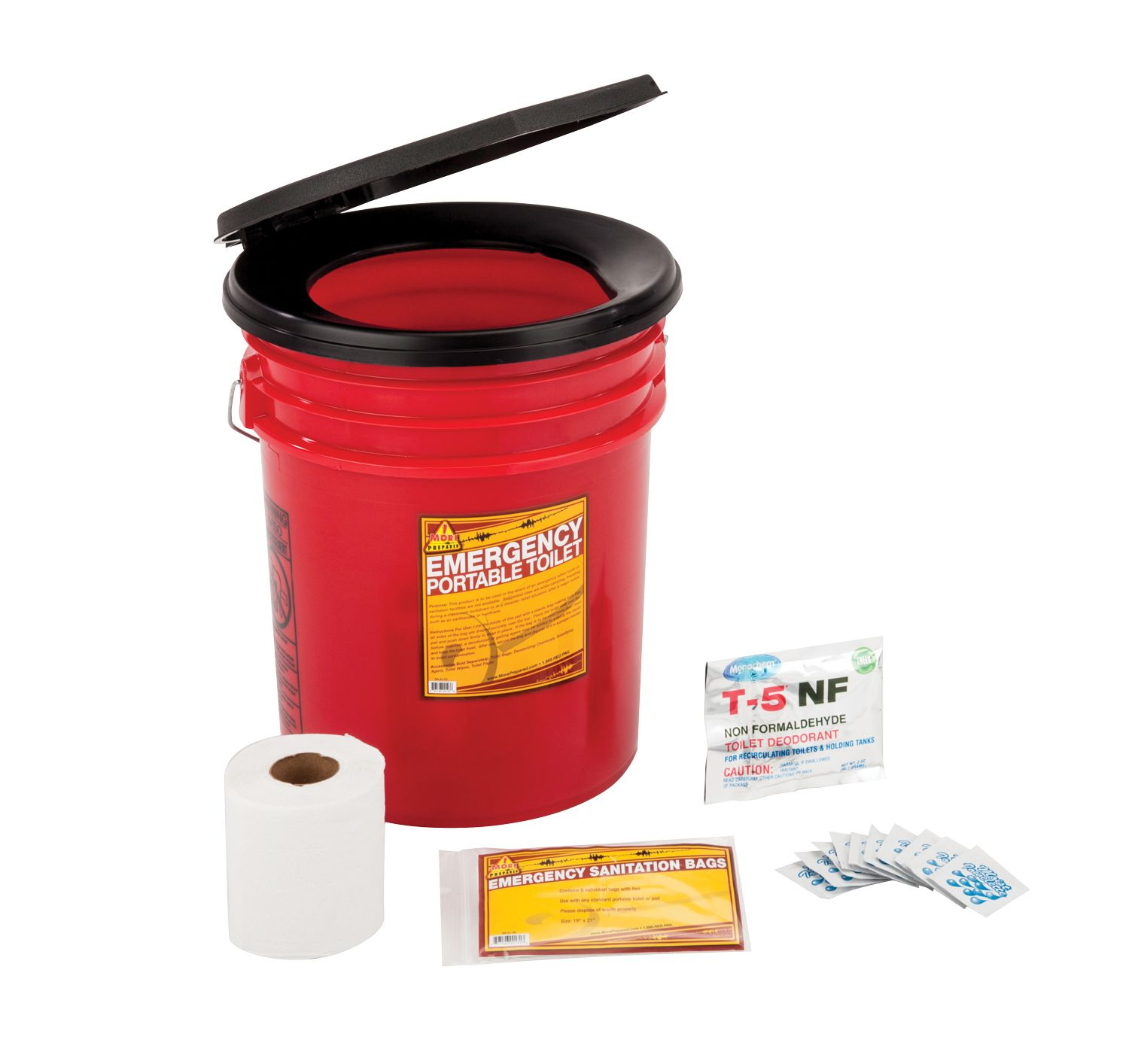 Sturdy 5 Gallon Bucket Toilet With A Snap On Toilet Seat This Is
