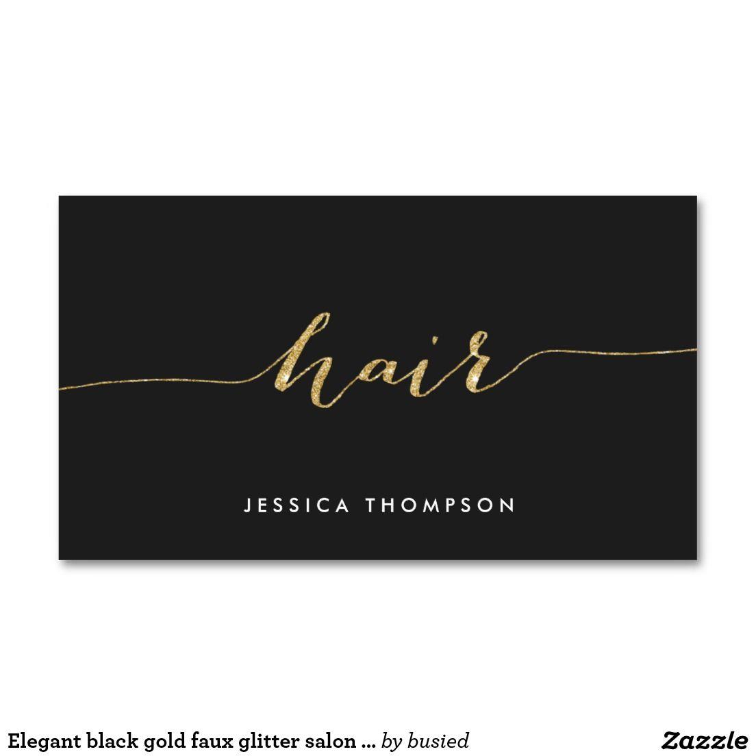 Elegant black gold faux glitter salon hair stylist business card elegant black gold faux glitter salon hair stylist business card magicingreecefo Image collections