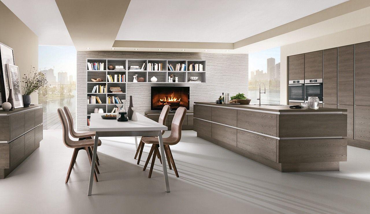 Kuche Grifflos Gladstone Oak Norina3382 Keukens Keuken Ontwerp Interieurontwerp Keuken