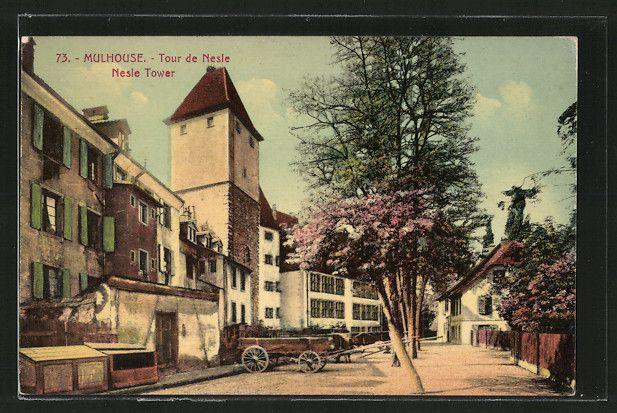 carte postale ancienne: CPA Mulhouse, Tour de Nesle (avec images) | Carte postale, Postale ...