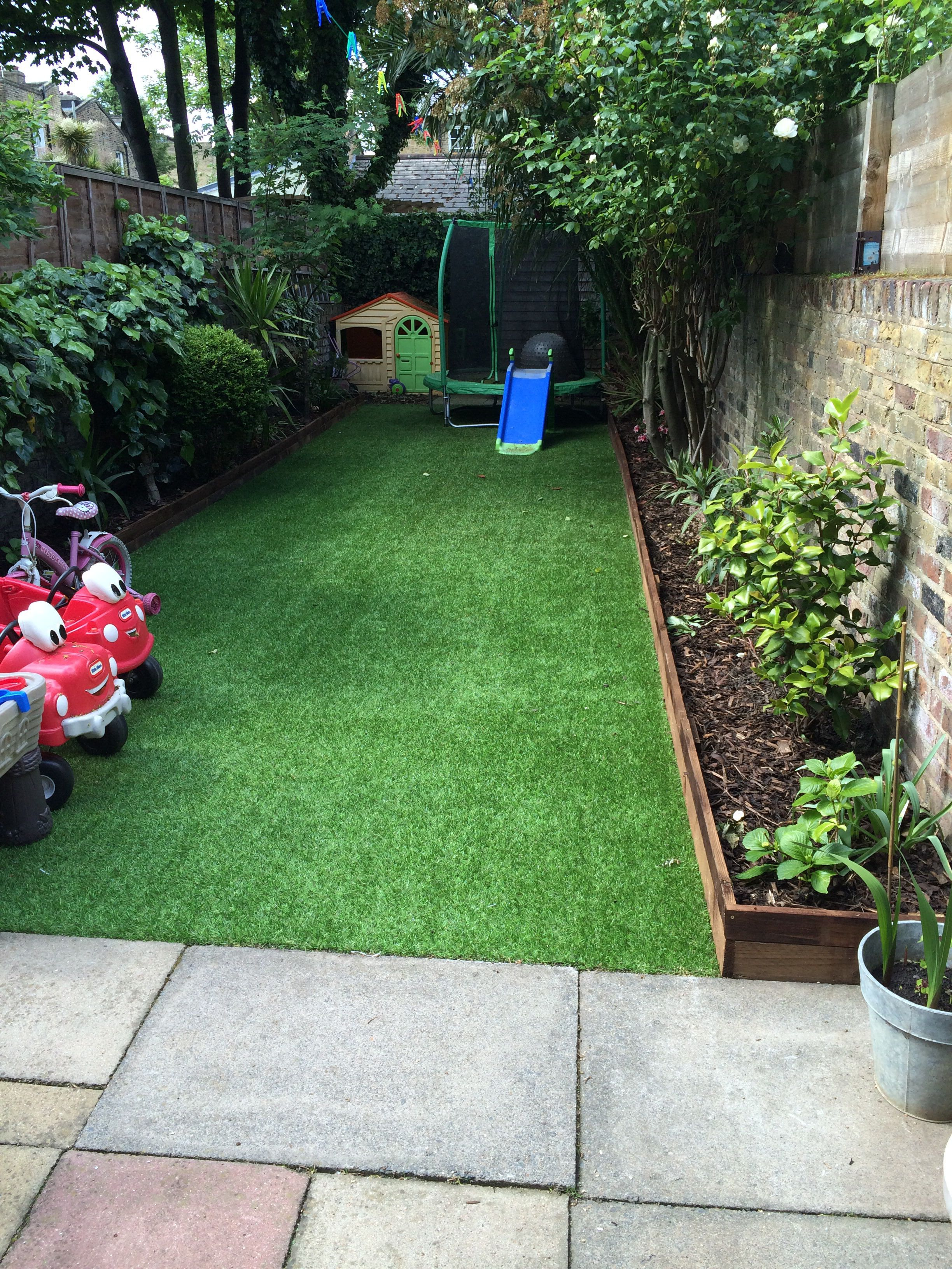 Artificial lawn supplied by following for Creating a small garden