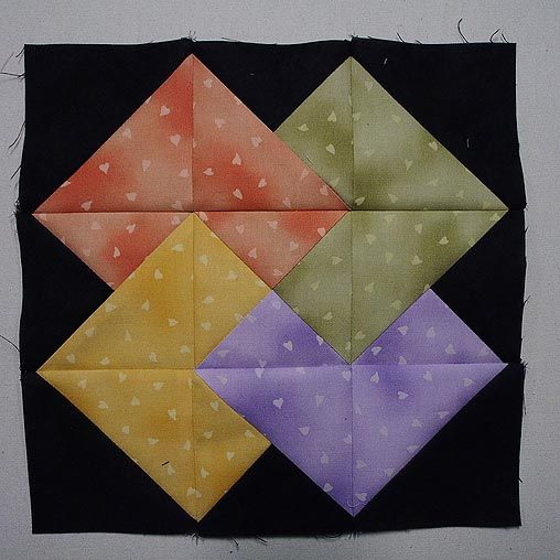 How To Sew The Card Trick Quilt Block Quilt Blocks Card Tricks Book Quilt