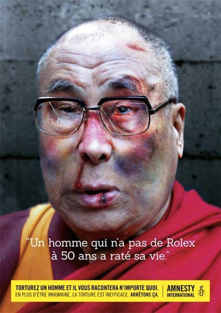"""""""Un homme qui n'a pas de Rolex à 50 ans a raté sa vie"""" : la campagne choc  d'Amnesty International. """""""