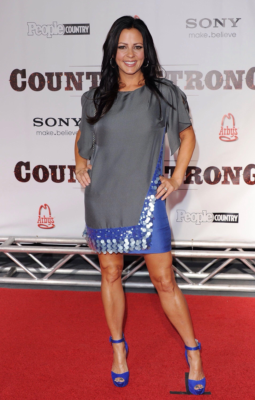 Sara Evans Sexy Gray Dress  Sexy Dress-3  Sara Evans -8404