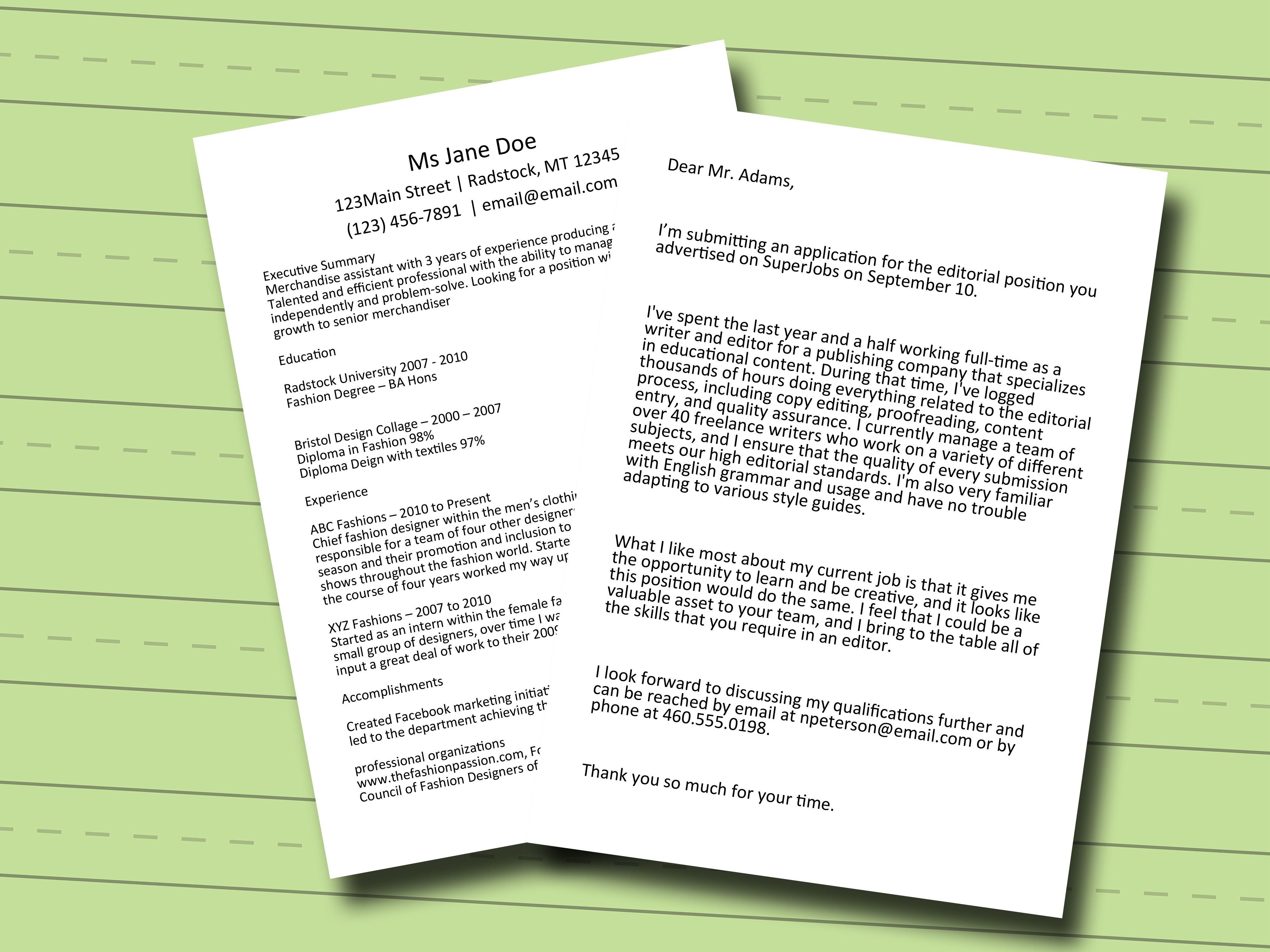 Cara Untuk Membuat Surat Lamaran Cover Letter Wikihow  Home