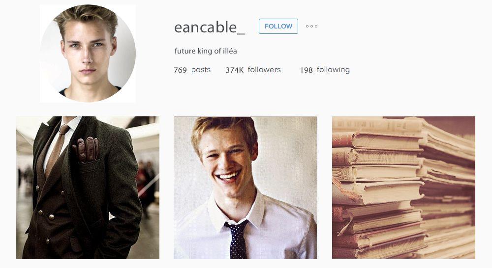 The Heir Ean Cable Instagram
