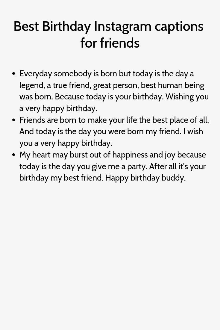 Beste Geburtstag Instagram Bildunterschriften Fur Freunde Beste Bildunterschriften Fr Instagram Captions For Friends Caption For Friends Birthday Captions