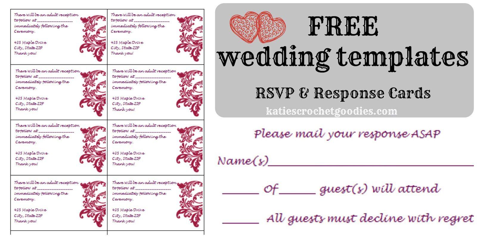 Free wedding rsvp response card template templat rsvp