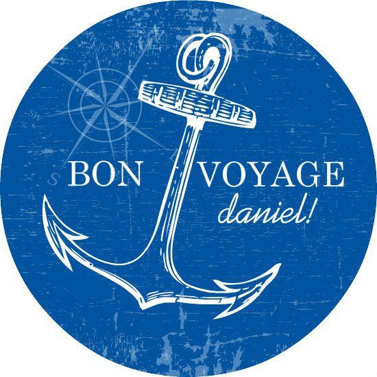 Blue And White Nautical Bon Voyage Party Invite Template Cruise - Bon voyage party invitation template