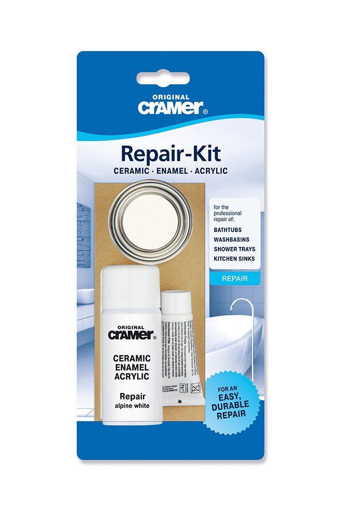 Cramer Ceramic Enamel Repair Kit For Baths Sinks And Counter Tops