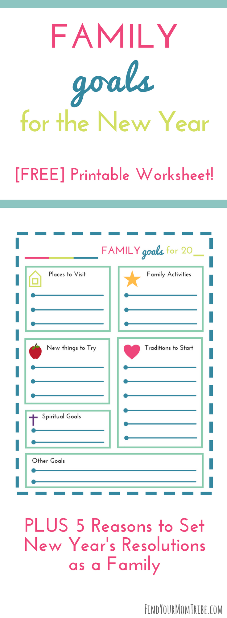 New Year's Resolutions for Families (with free printable