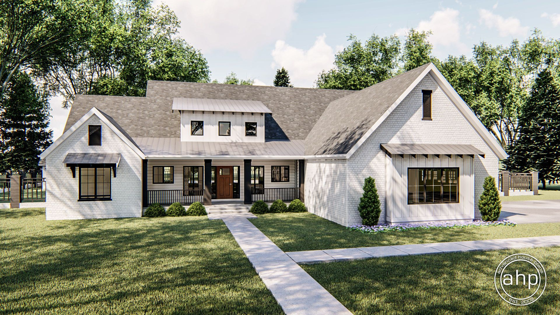 Vandyke 1 Story Modern Farmhouse House Plan Brick ranch