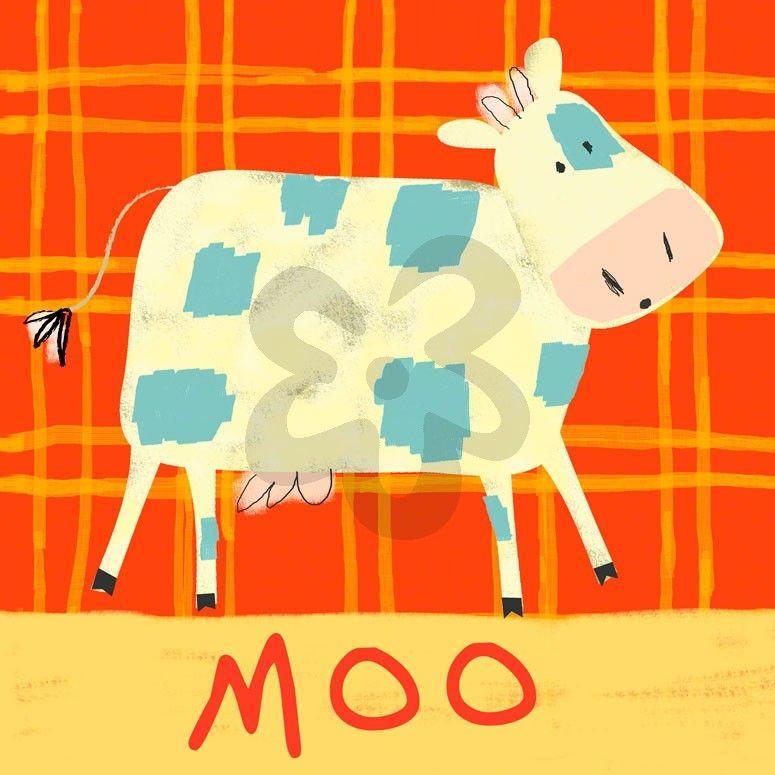 Cow Says Moo - Animals Canvas Wall Art | Oopsy daisy | Baby ...