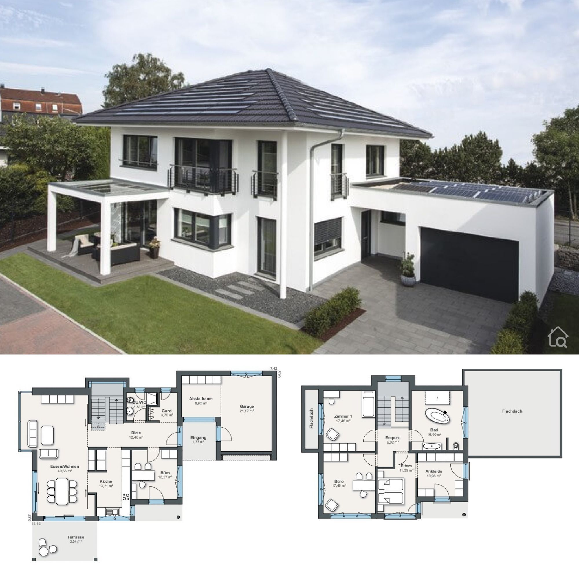 Two Floor House Plans With 4 Bedroom Garage Modern Contemporary European Styles Architectu In 2020 House Architecture Design Architecture House Architecture Design